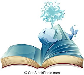 Whale and book