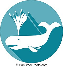 whale flat icon