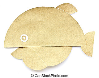 Whale recycled paper .