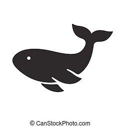 Whale silhouette icon