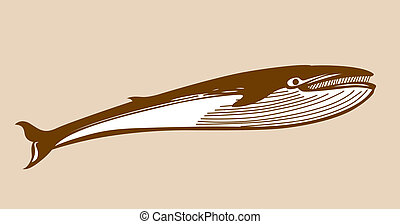 whale silhouette on yellow background