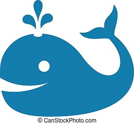 Whale vector icon