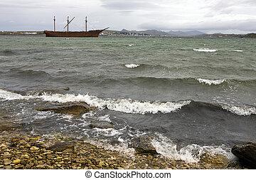 Whalebone Cove - Falkland Islands - Wreck of the Lady ...