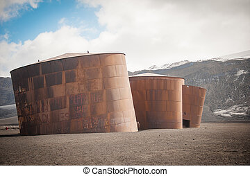 Whaling' station in Deception island, Antarctica - This shot...