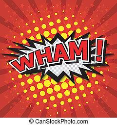 wham!, 漫画, スピーチ, bubble.