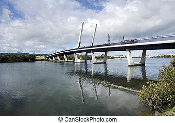 Whangarei harbour bridge - New Zealand - WHANGAREI,NZ - JULY...