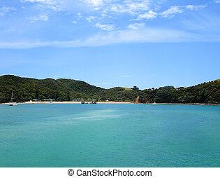 Wharf and Beach of Urupukapuka Island - Urupukapuka Island, ...