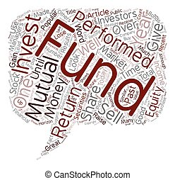 What are mutual funds text background wordcloud concept