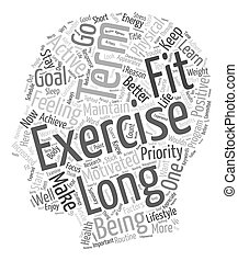 What Can We Learn From Long Term Exercisers text background wordcloud concept