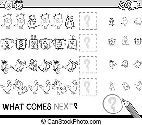 what comes next game cartoon - Cartoon Illustration of ...