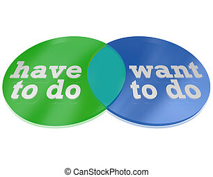 What Do You Have Vs Need to Do Venn Diagram Decision