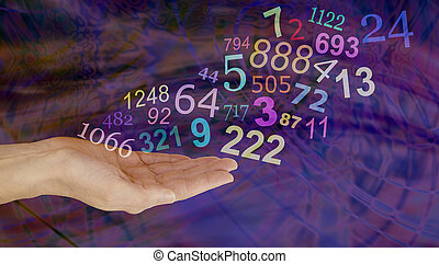 What do your Numbers mean - Female hand palm up with a group...