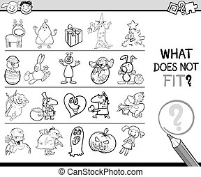 what does not fit game cartoon - Cartoon Illustration of ...