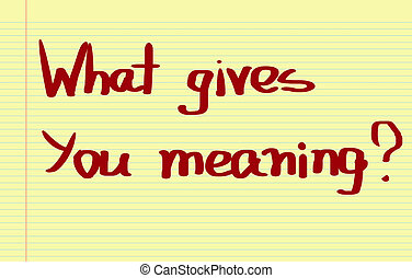 What Gives You Meaning Concept