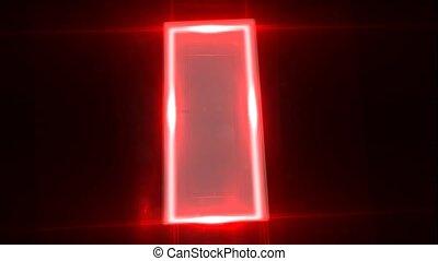 What is behind the door Light passes through the door....
