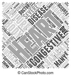 What is Congestive Heart Failure Word Cloud Concept