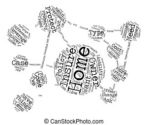 What Is Home Owners Insurance text background word cloud concept