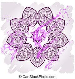 What is karma? Oriental mandala motif round lase pattern on...