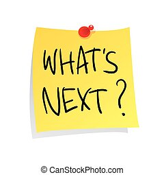What is Next - Motivational concept vector illustration of...