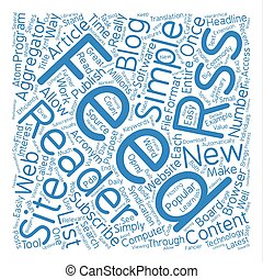What Is RSS text background word cloud concept