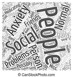 What is Social Anxiety Word Cloud Concept