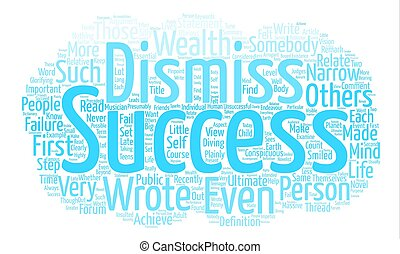 What Is Success text background word cloud concept