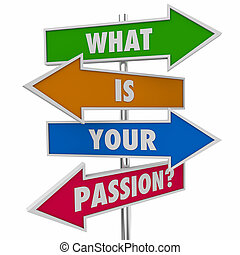 What Is Your Passion Question Arrow Signs 3d Illustration
