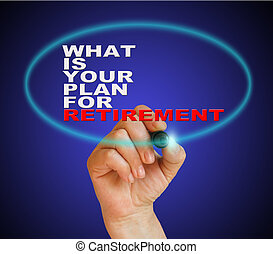 WHAT IS YOUR PLANE FOR RETIREMENT - writing words WHAT IS...