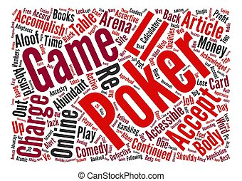 What it takes to be successful arena poker Word Cloud Concept Text Background
