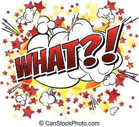 what?!, -, livre, expres, comique, dessin animé