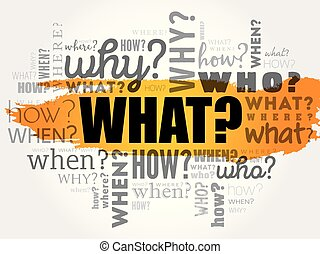 WHAT? - Question word cloud - WHAT? - Questions whose...