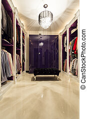 What should I wear today? - Shot of a modern spacious walk-...