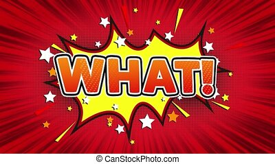 What Text Pop Art Style Comic Expression. - What! Text Pop...