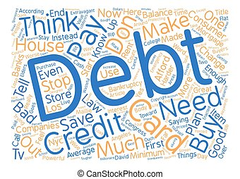 What You Need To Know About Debt And Credit Cards Word Cloud Concept Text Background