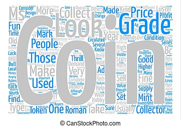 what you should look for in a coin text background word cloud concept