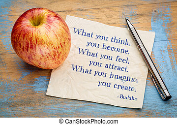 What you think, feel, imagine ... Buddha quote