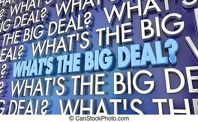whats, affare, idea grande, illustrazione, parole, emettere, 3d