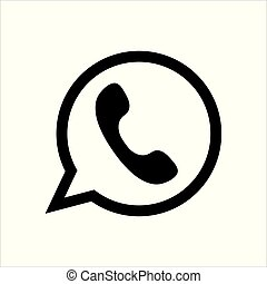 Whats App messenger icon simple style vector image