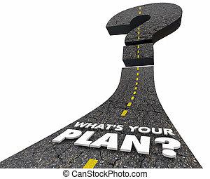 whats, but, conduite, illustration, objectif, plan, en avant!, ton, route, 3d