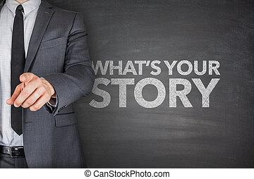whats, din, berättelse, på, blackboard