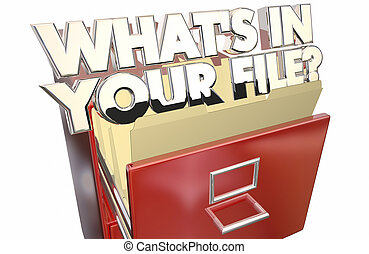 Whats In Your File Personal Information Data Private