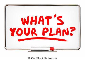 whats, mission, schreiben kugelschreiber, animation, plan, wörter, strategie, dein, 3d