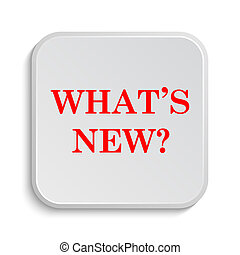 Whats new icon. Internet button on white background.