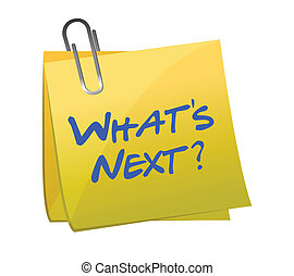 whats new post it illustration design over a white background