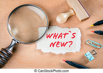 Whats new. Question, answer, news and report concept