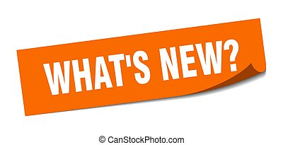 what's new? sticker. square isolated peeler sign. label