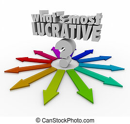 whats, pregunta, flechas, marca, más, lucrativo, elegir, palabras, inve, mejor