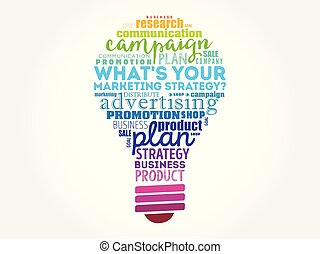 What's Your Marketing Strategy light bulb