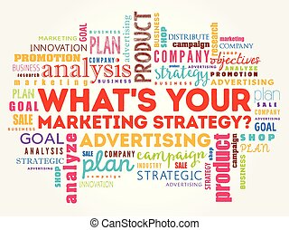 What's Your Marketing Strategy word cloud