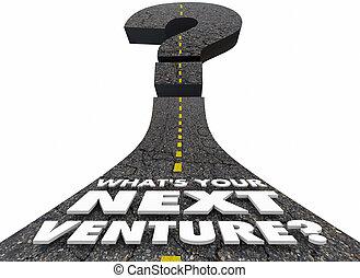 Whats Your Next Venture Road Question Mark 3d Illustration